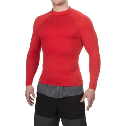 Dolfin Solid Rash Guard - UPF 50+, Long Sleeve (For Men) in Red - Closeouts