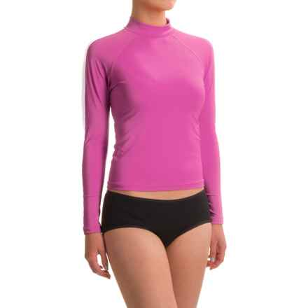 Dolfin Solid Rash Guard - UPF 50+, Long Sleeve (For Women) in Pink - Closeouts