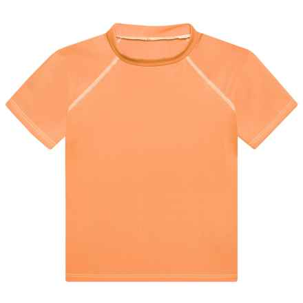 Dolfin Solid Rash Guard - UPF 50+, Short Sleeve (For Little Boys and Girls) in Orange - Closeouts
