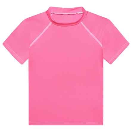 Dolfin Solid Rash Guard - UPF 50+, Short Sleeve (For Little Boys and Girls) in Pink - Closeouts