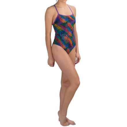 Dolfin Triangle-Back Competition Swimsuit (For Women) in Multi Cyrus - Closeouts