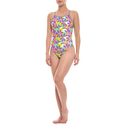 5394c47f51 Dolfin Uglies Print V-2 Back Swimsuit (For Women) in Whimsy