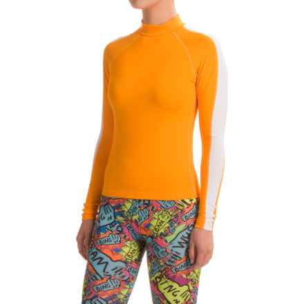 Dolfin Uglies Rash Guard - UPF 50+, Long Sleeve (For Women) in Orange - Closeouts