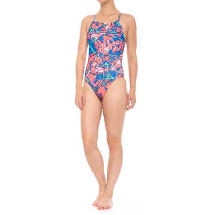 Dolfin Uglies Splat V-2 Back One-Piece Swimsuit - UPF 50+ (For Women) in Splat! - Closeouts
