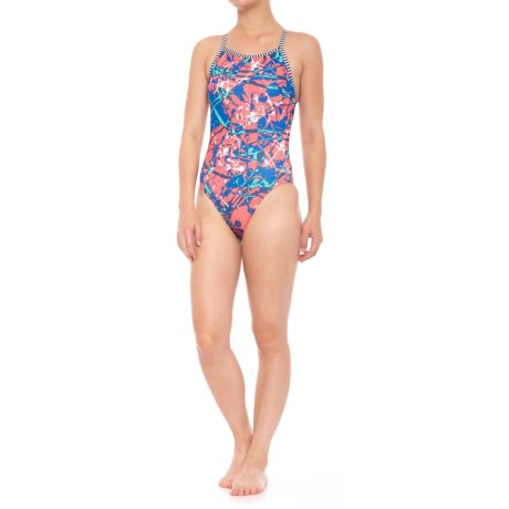 Dolfin Uglies Splat V-2 Back One-Piece Swimsuit - UPF 50+ (For Women) in Splat!