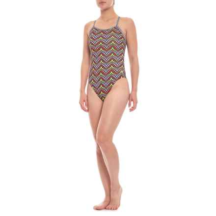 Dolfin Uglies String Back One-Piece Swimsuit - UPF 50+ (For Women) in Zulu