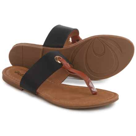 Dolly Mix Uma Sandals - Vegan Leather (For Women) in Black - Closeouts