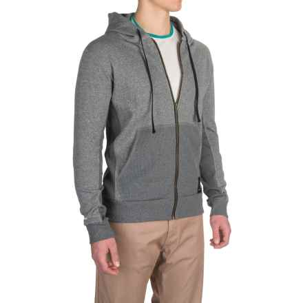 Dolly Varden Bighorn Hoodie - UPF 50, Full Zip (For Men) in Light Grey Heather - Closeouts