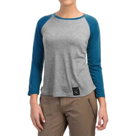 Dolly Varden Biscayne Ball Shirt - UPF 50, Long Sleeve (For Women) in Heather/Blue - Closeouts