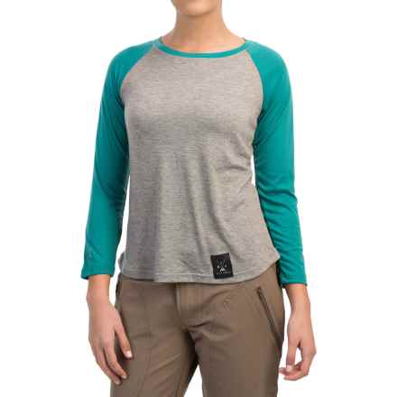 Dolly Varden Biscayne Ball Shirt - UPF 50, Long Sleeve (For Women) in Heather/Turquoise - Closeouts