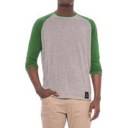 Dolly Varden Biscayne Ball T-Shirt - Long Sleeve (For Men) in Charcoal Heather/Green - Closeouts