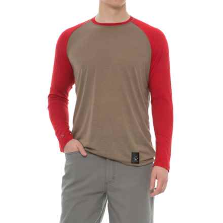 Dolly Varden Biscayne Ball T-Shirt - Long Sleeve (For Men) in Taupe/Red - Closeouts