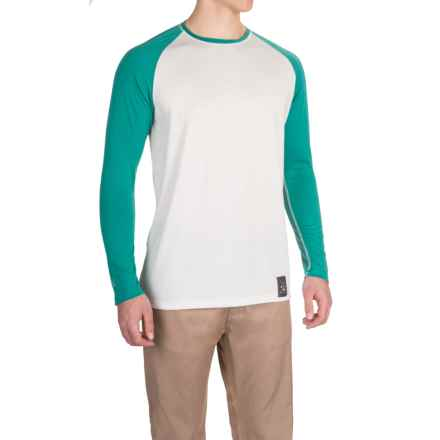 Dolly Varden Biscayne Ball T-Shirt - Long Sleeve (For Men) in White/Turquoise - Closeouts