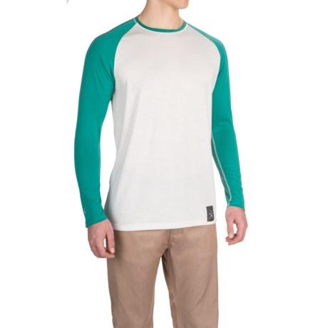 Dolly Varden Biscayne Ball T-Shirt - Long Sleeve (For Men) in White/Turquoise