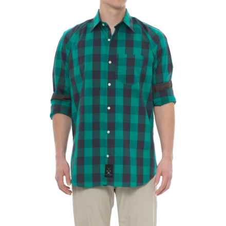 Dolly Varden Frying Pan Shirt - Long Sleeve (For Men) in Green Gingham - Closeouts
