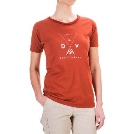 Dolly Varden Logo T-Shirt - Short Sleeve (For Women) in Rust - Closeouts