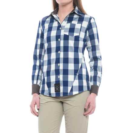 Dolly Varden Rivadavia Shirt - UPF 30, Long Sleeve (For Women) in Blue Natural Gingham - Closeouts