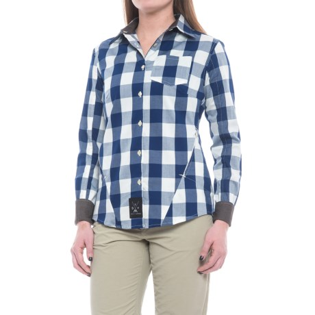 Dolly Varden Rivadavia Shirt - UPF 30, Long Sleeve (For Women) in Blue Natural Gingham