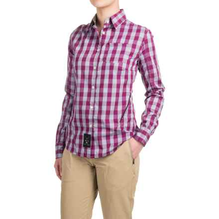 Dolly Varden Rivadavia Shirt - UPF 30, Long Sleeve (For Women) in Grey/Berry Gingham - Closeouts