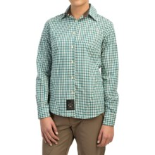 Dolly Varden Rivadavia Shirt - UPF 30, Long Sleeve (For Women) in Teal Check - Closeouts