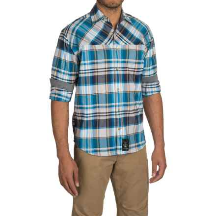 Dolly Varden Wasatch Flannel Shirt - Long Sleeve (For Men) in Blue/Gold - Closeouts