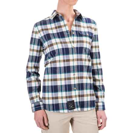 Dolly Varden Wasatch Shirt - UPF 30+, Long Sleeve (For Women) in Ivory/Teal - Closeouts