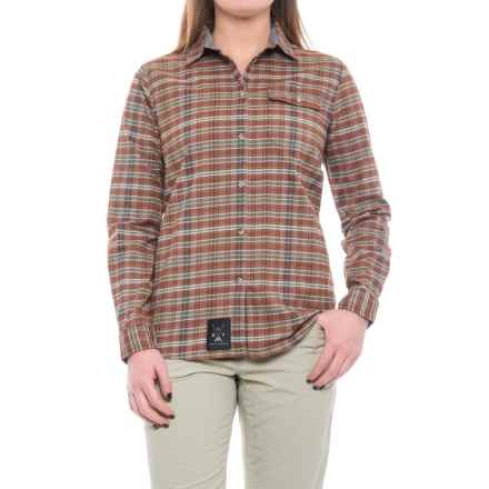Dolly Varden Wasatch Shirt - UPF 30+, Long Sleeve (For Women) in Rust/Tan/Pine - Closeouts