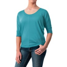Dolman Sleeve Shirt - Cotton-Modal, Short Sleeve (For Women) in Turquoise - 2nds