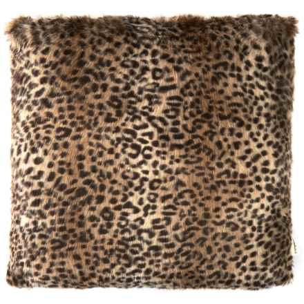 """Domain Faux-Fur Decor Pillow - 20x20"""" in Leopard Spots - Closeouts"""