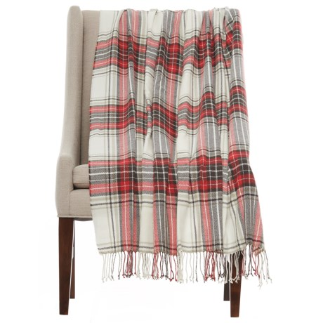 """Domain Leigh Throw Blanket - 50x60"""" in Red"""