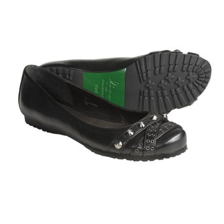 Donald J. Pliner Fara Flats - Studded Leather (For Women) in Black