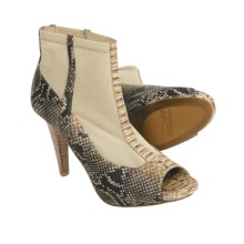 Donald J Pliner Zona Ankle Boots - Peep Toe (For Women) in Ivory/Mushroom - Closeouts