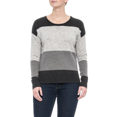 Image of Donegal Colorblock Stripe Sweater - Merino Wool Blend (For Women)