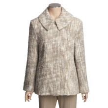 Donegal Design Mohair Boucle Jacket (For Women) in Beige/Natural Marbled - Closeouts