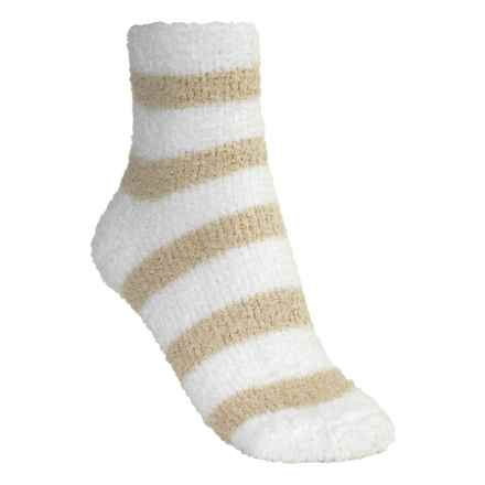 Donna Nicole Chenille Bed Socks - Ankle (For Women) in Tan/White - Closeouts