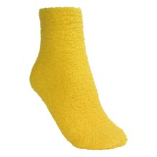 Donna Nicole Chenille Bed Socks - Ankle (For Women) in Yellow - Closeouts