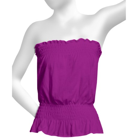 Donna Nicole Jersey Knit Tube Top (For Women) in Purple
