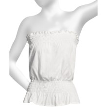 Donna Nicole Jersey Knit Tube Top (For Women) in White - Closeouts