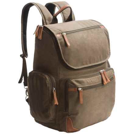 Dopp Canvas Backpack in Olive - Closeouts