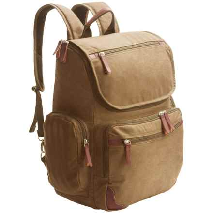 Dopp Canvas Backpack in Tan - Closeouts