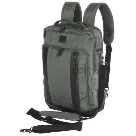 Dopp Commuter Convertible Backpack with RFID Lining in Grey