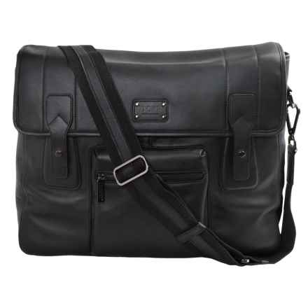 Dopp Leather Gear Messenger Bag in Black - Closeouts