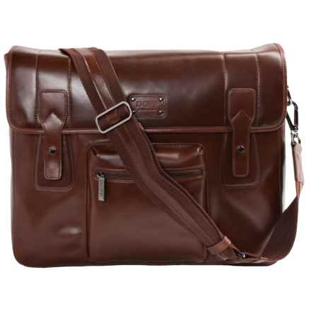 Dopp Leather Gear Messenger Bag in Brown - Closeouts