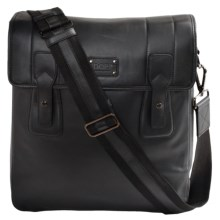 Dopp Leather Urban Messenger Bag in Black - Closeouts