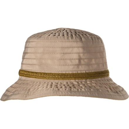 7f36c9b4289e2 Dorfman Pacific Acad Ribbon Bucket Hat with Trim (For Women) in Taupe