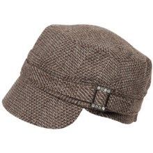 Dorfman Pacific Authentic Tweed Jockey Hat (For Women) in Brown - Closeouts