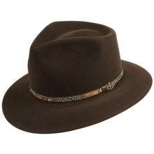 Dorfman Pacific Biltmore Palermo Hat (For Men) in Black Oak - Closeouts