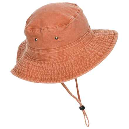 Dorfman Pacific Boonie Hat - UPF 50+ (For Men) in Bright Orange - Closeouts