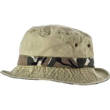 8e5d8ff55a58f Dorfman Pacific Camo Under Brim Bucket Hat (For Men) in Khaki Safari