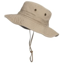 Dorfman Pacific Classic Boonie Hat - UPF 50+ (For Men and Women) in Khaki - Closeouts